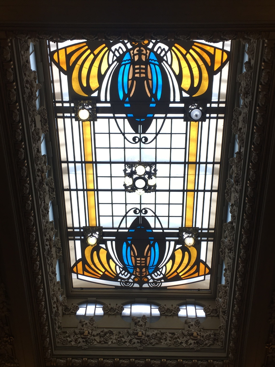 Finestra decorativa sul soffitto del Casinò